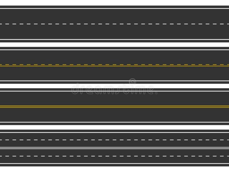 Strade di piegamento ed alti modi La strada curva la progettazione geometrica, le città importanti dell'intersezione della via, d illustrazione vettoriale