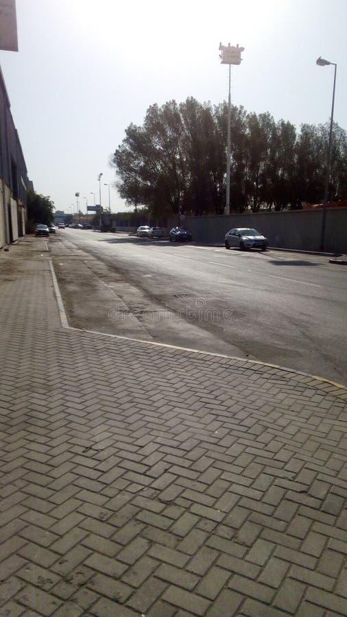 Strade di zona industriale del Bahrain immagine stock libera da diritti