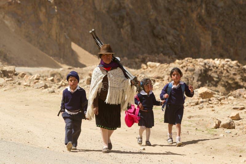 Strade ecuadoriane fotografie stock