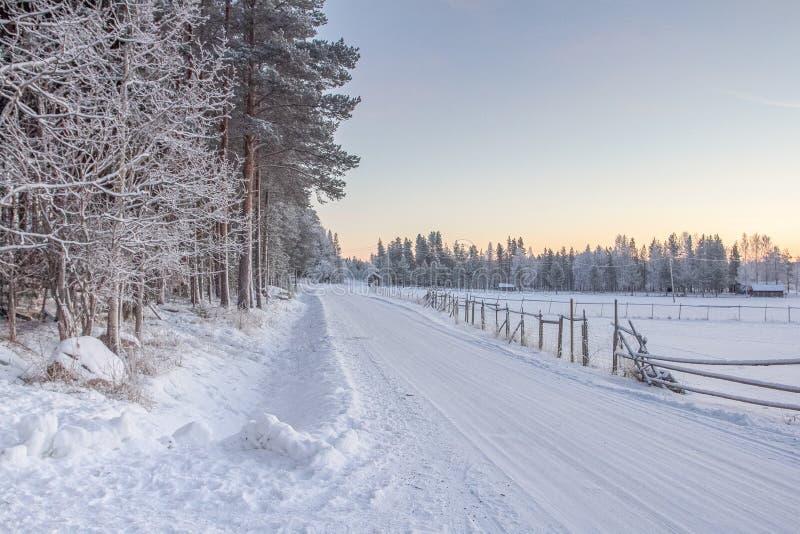 Strade invernali fotografie stock