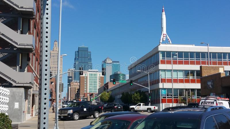 Strade trasversali di Kansas City fotografia stock