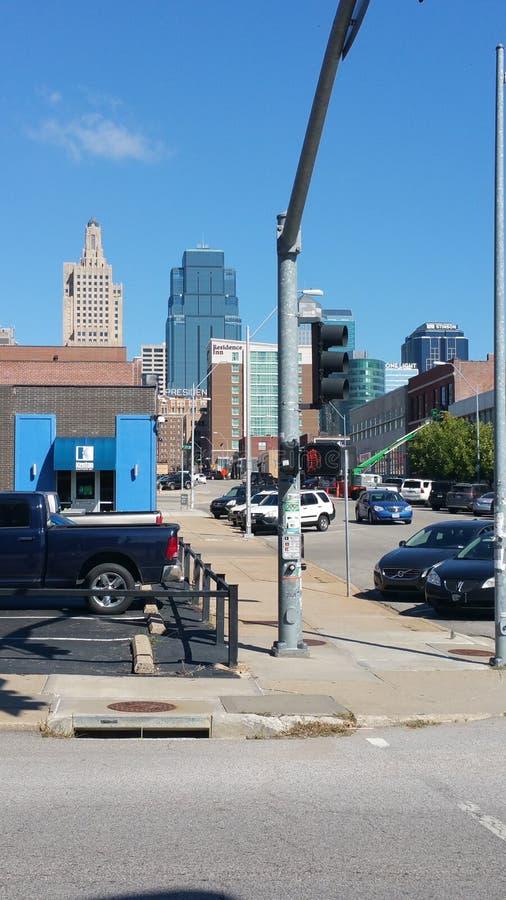 Strade trasversali di Kansas City fotografia stock libera da diritti