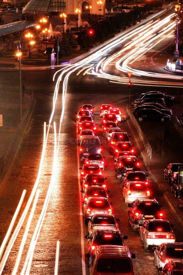 Strade trasversali di notte immagine stock libera da diritti