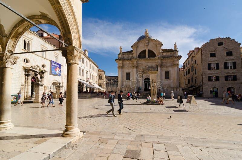 Stradun in Dubrovnik, Kroatië royalty-vrije stock afbeeldingen