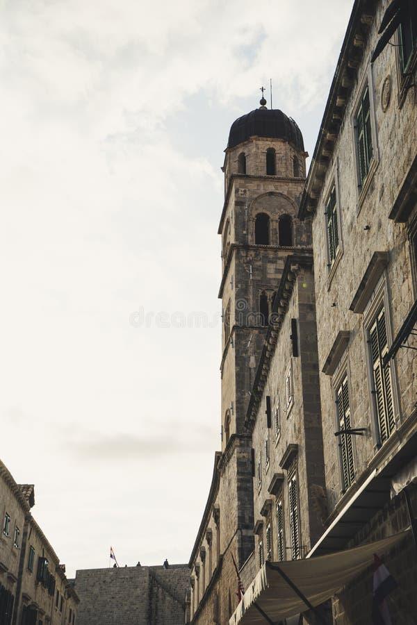 Stradun ist die gr??te, l?ngste und breiteste Stra?e in der historischen Mitte von Dubrovnik - UNESCO-Welterbest?tte Kroatien, Eu lizenzfreie stockfotos