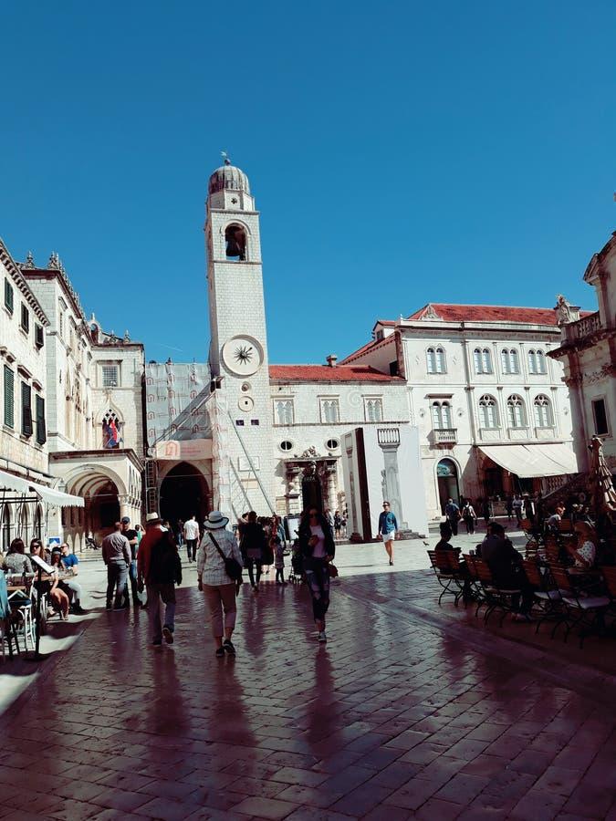 Stradun, Ragusa, Croazia fotografia stock libera da diritti