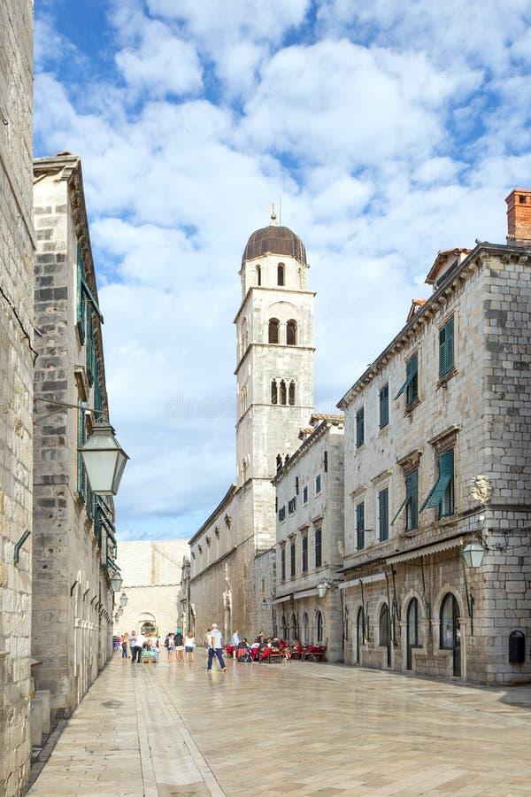 Stradun reservado en Dubrovnik imagen de archivo