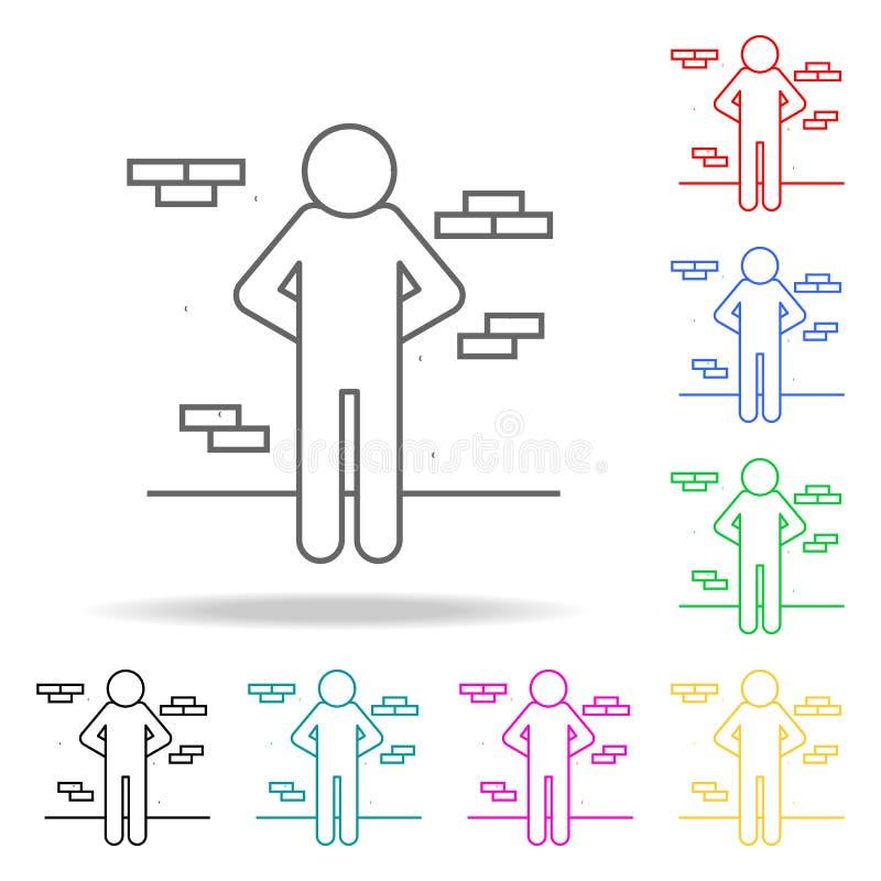 straf van uitvoering Elementen van menselijke dood in multi gekleurde pictogrammen Grafisch het ontwerppictogram van de premiekwa stock illustratie