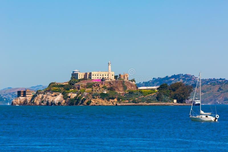 Straffanstalt för Alcatraz ö i San Francisco Bay California royaltyfria foton