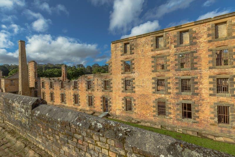 Straffanstaltporten Arthur Tasmania royaltyfri foto