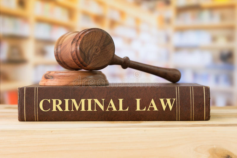 Strafrecht stockfoto
