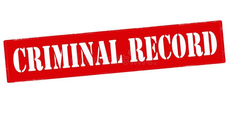 Strafregister stock illustratie