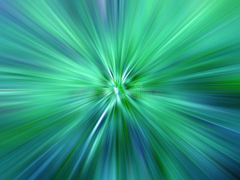 Strahlen der farbigen Leuchte vektor abbildung