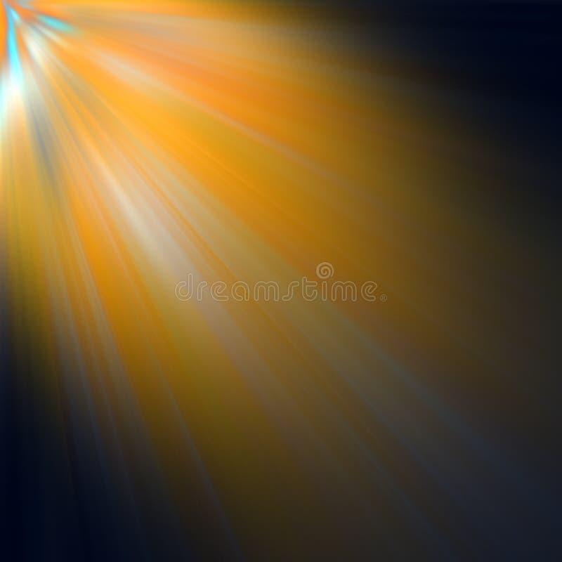 Strahlen der Leuchte lizenzfreie abbildung