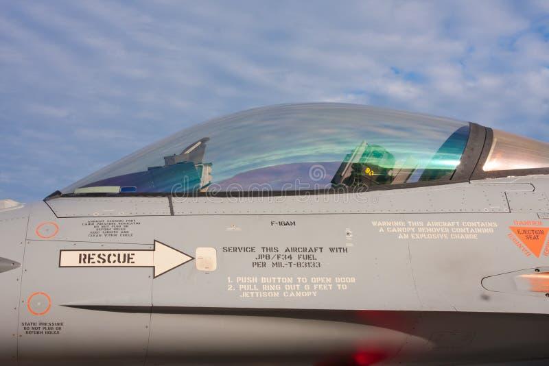 Strahlen-Kämpfer-Cockpit stockfotografie