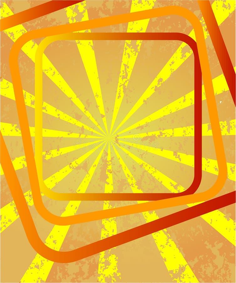 Strahlen mit Quadraten lizenzfreie abbildung