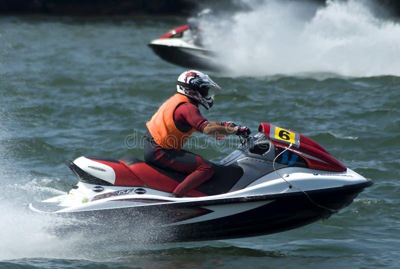 Strahlen-Skitreiber während des race-1 stockfotografie