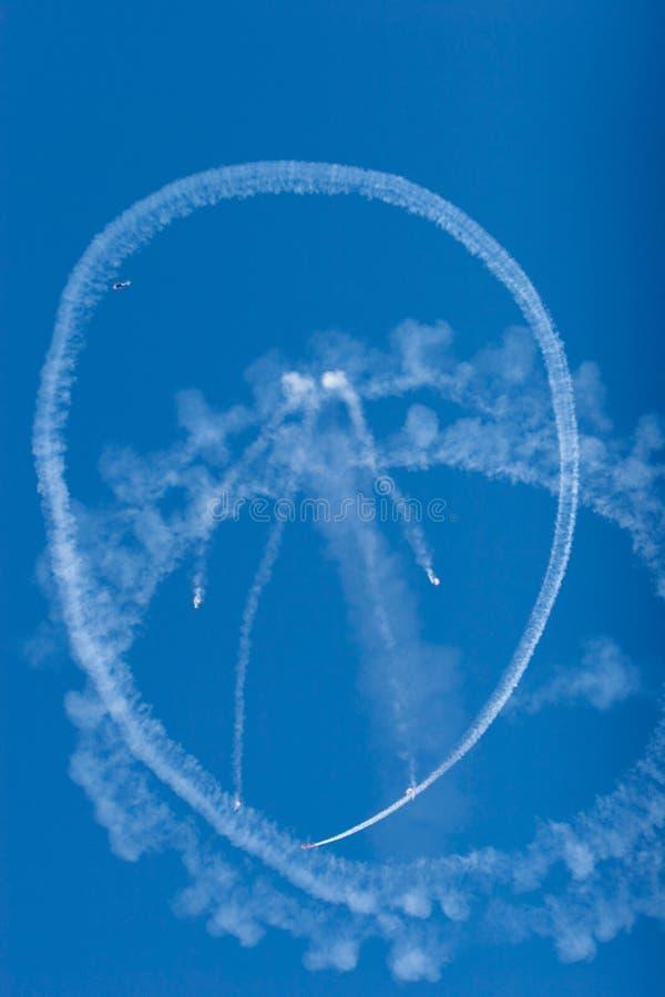 Strahlenflugzeuge während des airshow lizenzfreies stockbild