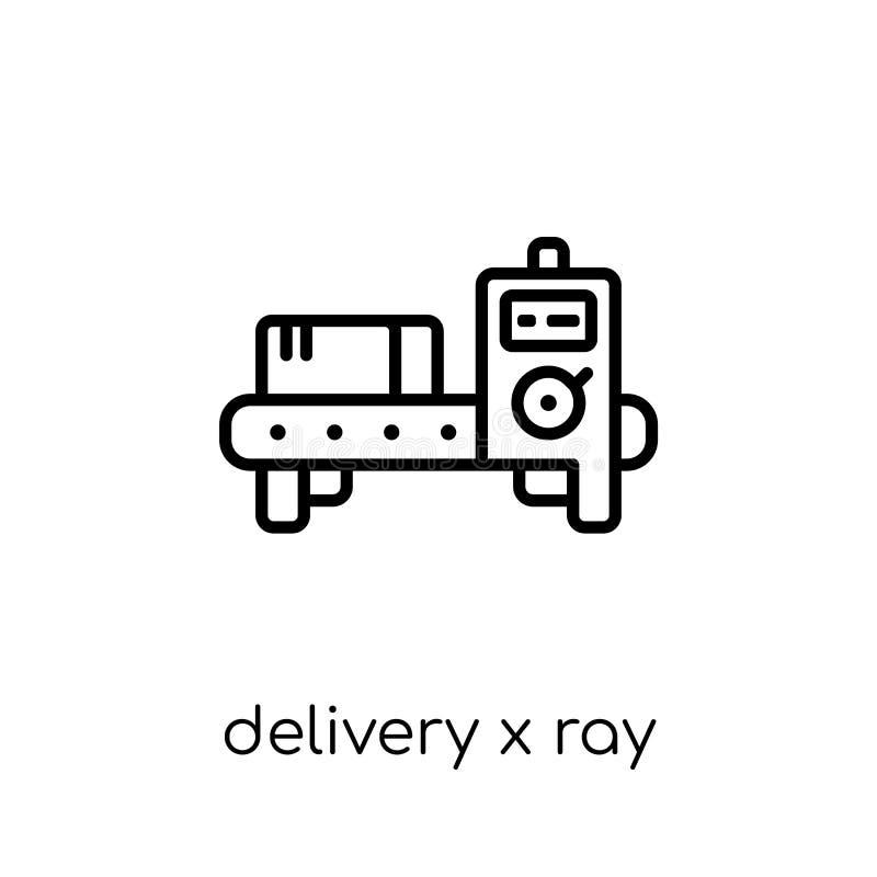 Strahlnikone der Lieferung X von der Lieferung und von der logistischen Sammlung stock abbildung