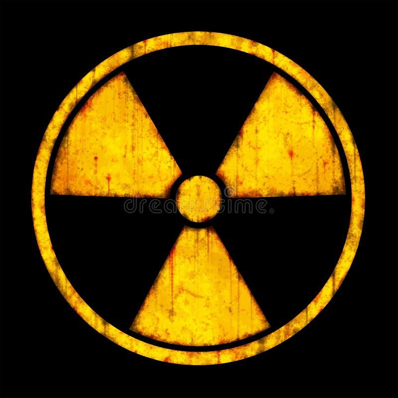 Strahlung â rundes Zeichen lizenzfreie abbildung