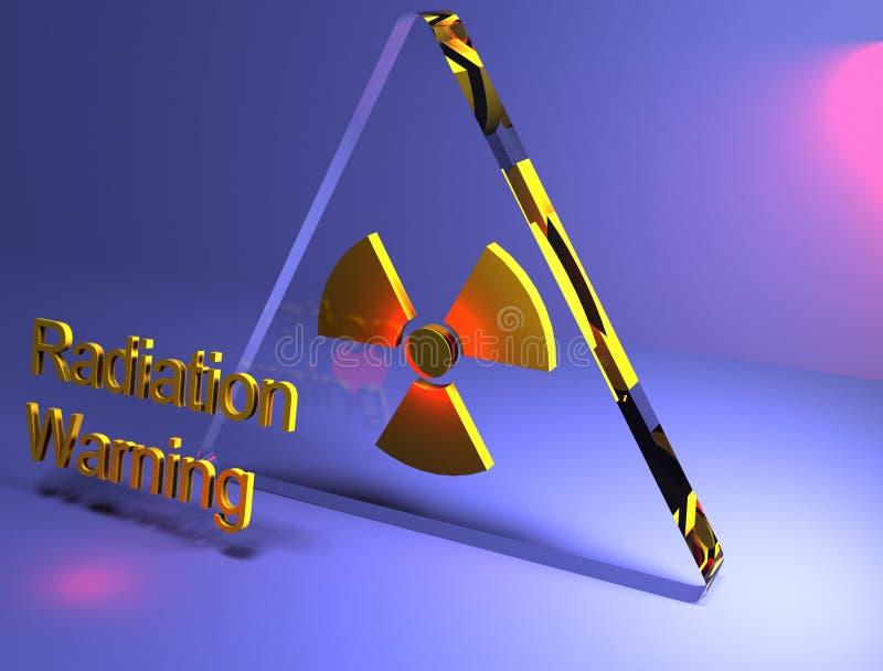 Strahlung, die 3D warnt lizenzfreie stockfotografie