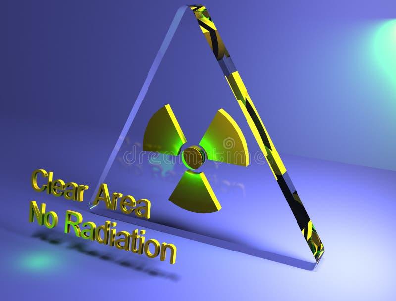 Strahlungsfreizone 3D lizenzfreies stockbild