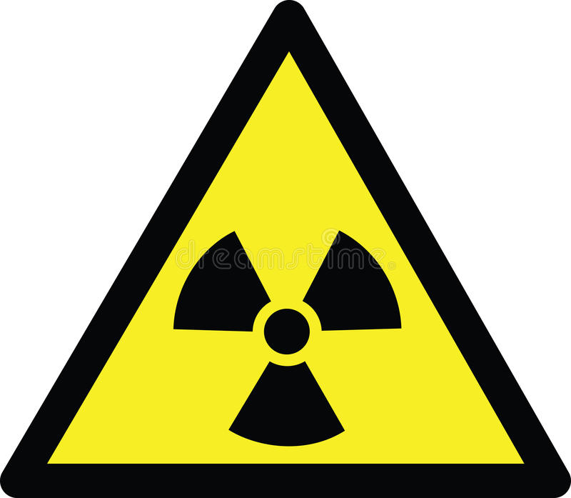 Strahlungsgefahr lizenzfreie abbildung