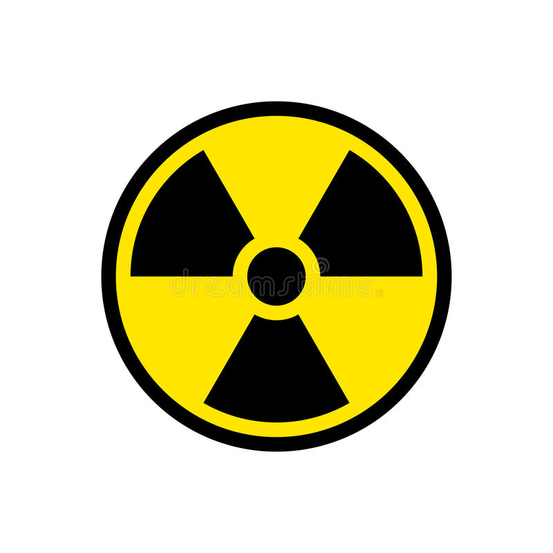 Strahlungsgefahrzeichensymbol stock abbildung