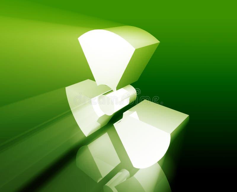 Strahlungssymbol lizenzfreie abbildung