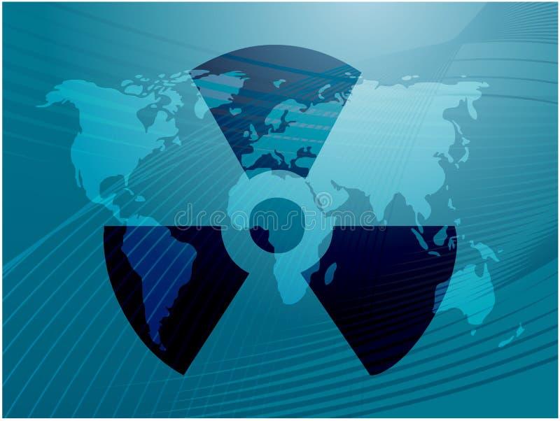 Strahlungssymbol stock abbildung