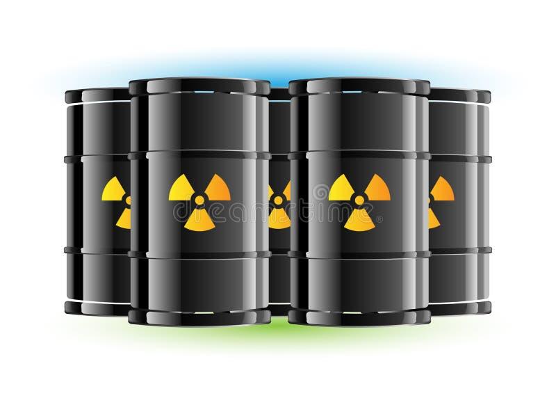 Strahlungszeichenfaß lizenzfreie abbildung