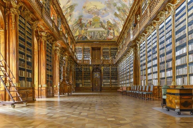 Strahov biblioteka w Praga zdjęcia royalty free