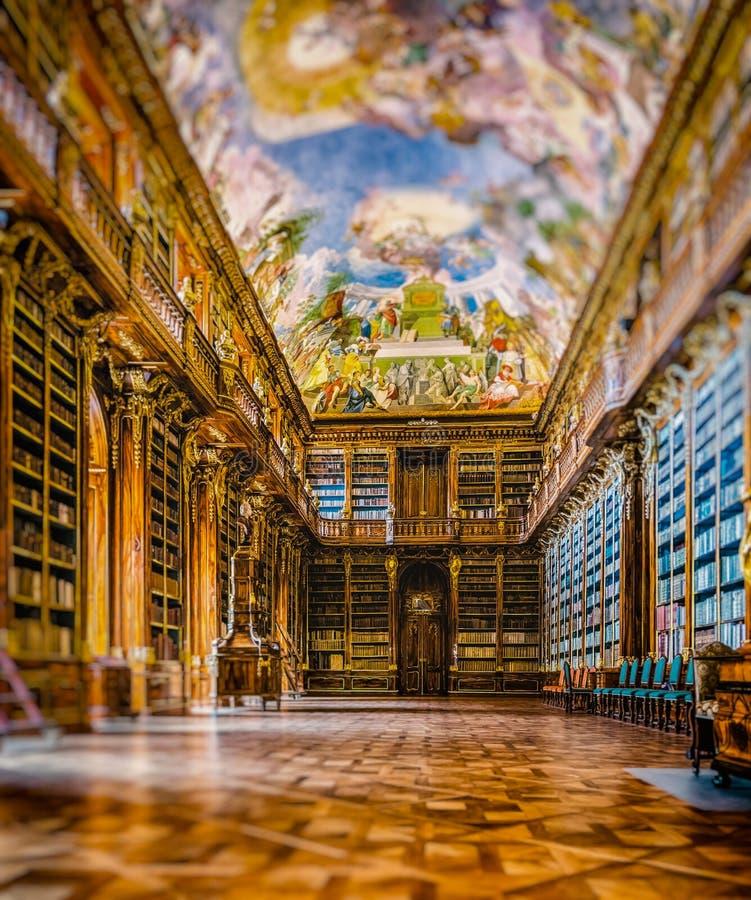 Strahov-Bibliothek, Prag, Tschechische Republik stockbild