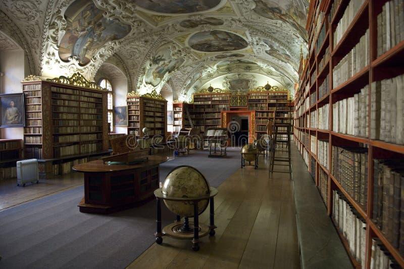 Strahov Library in Prague royalty free stock photo