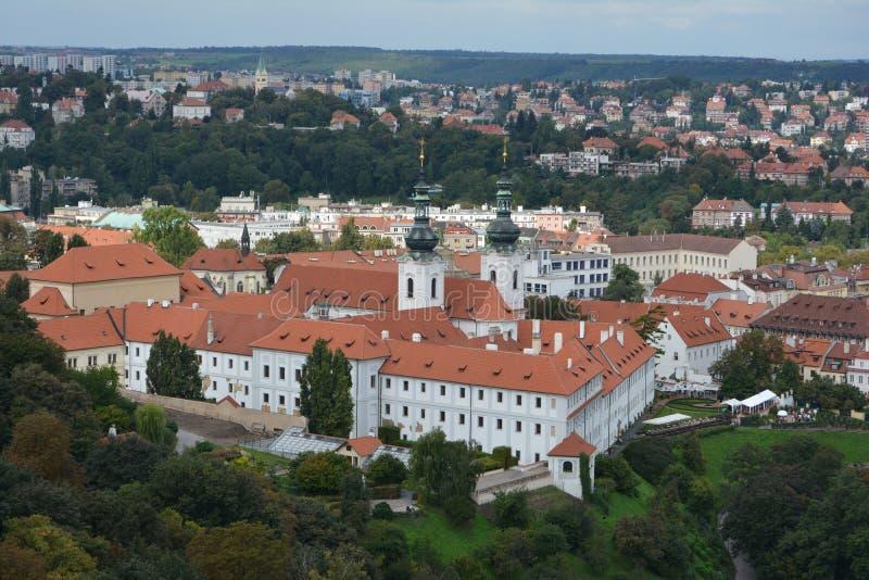 The Strahov Monastery in Prague, Czech Republic stock photos
