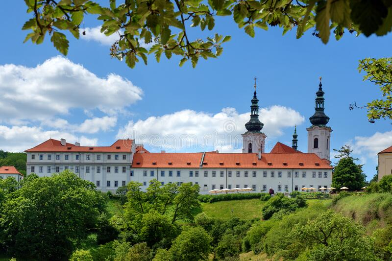 Strahov Monastery in Prague stock photo
