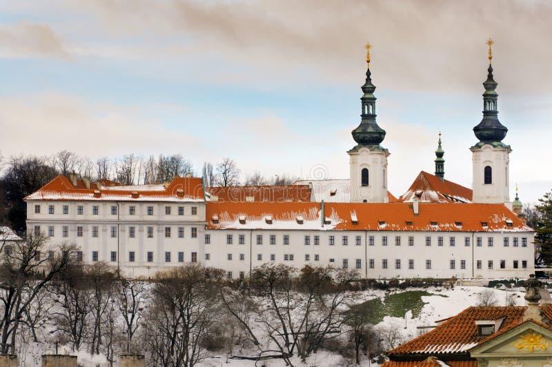 The Strahov Monastery in winter, Prague