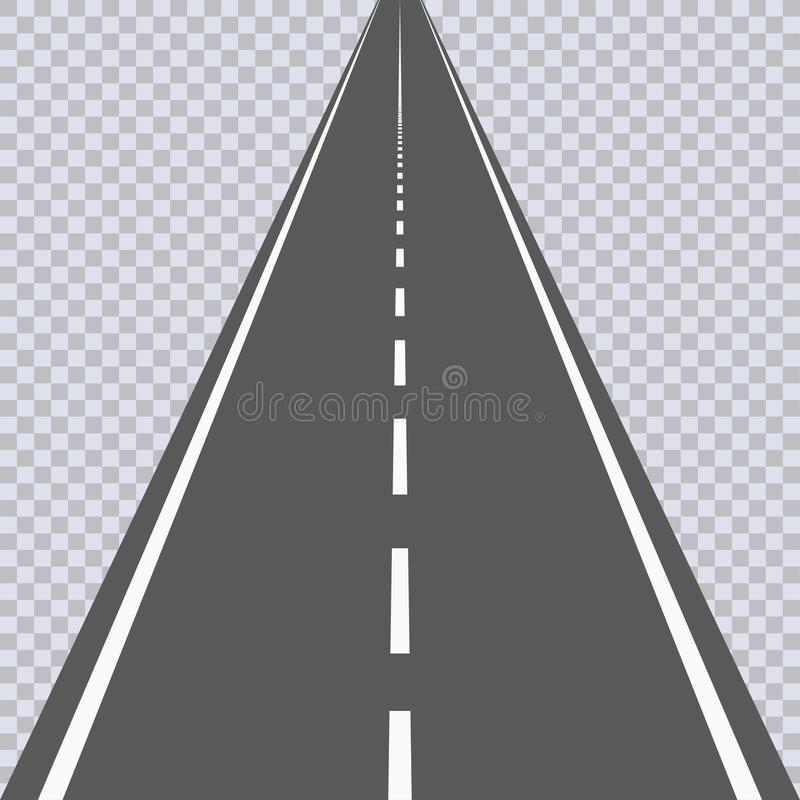 Free Straight Asphalt Road With White Markings. Highway. Vector. Royalty Free Stock Photography - 108276617