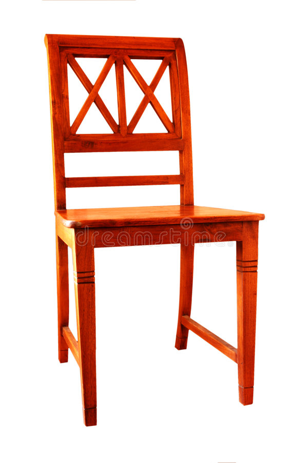 Straight-backed Wooden Chair stock image