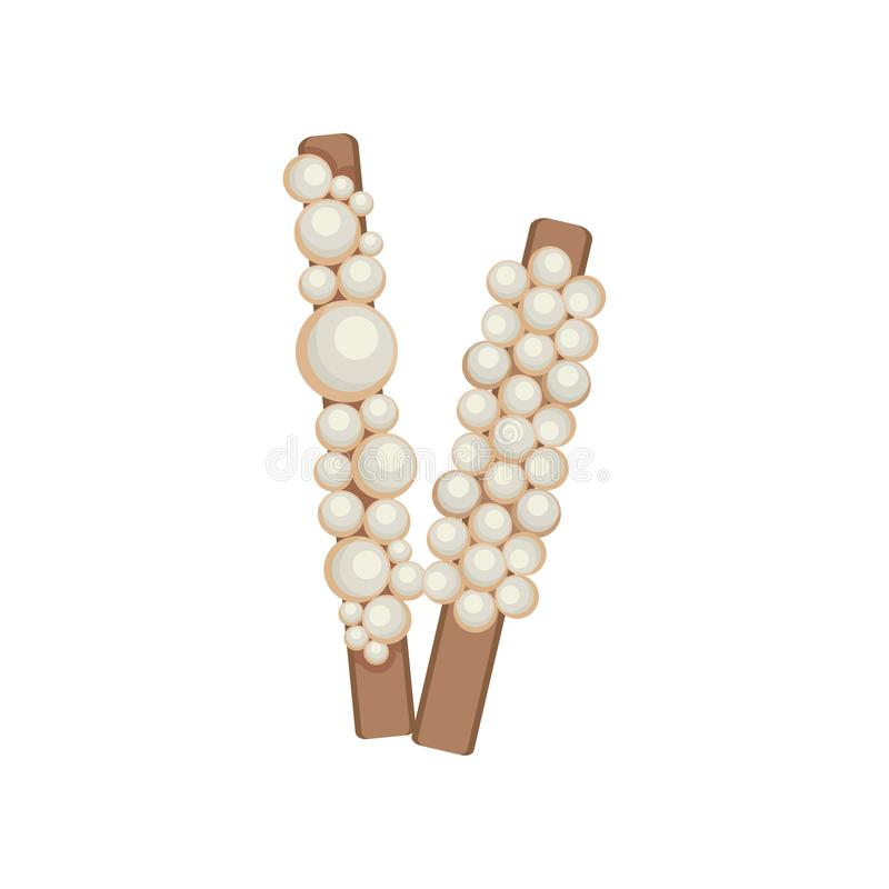 Hairpins with pearls. Vector illustration on white background. vector illustration