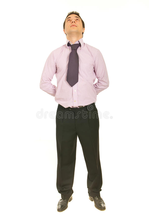 Download Straight Business Man Looking Up Stock Photo - Image: 23681508