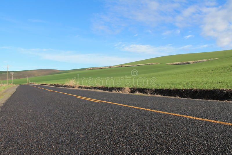 Straight country road royalty free stock photo