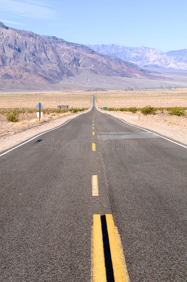 Download Straight Death Valley Road stock photo. Image of mountains - 23731808