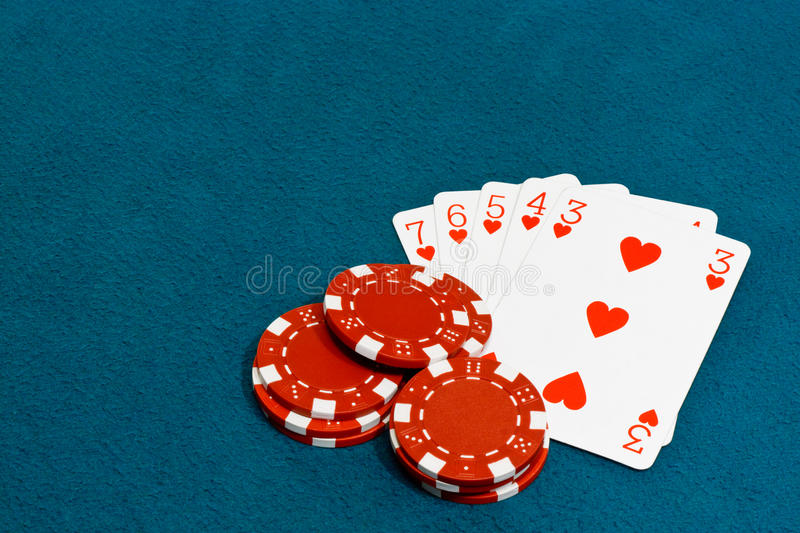 Download Straight flush poker stock photo. Image of blue, gambler - 26637010
