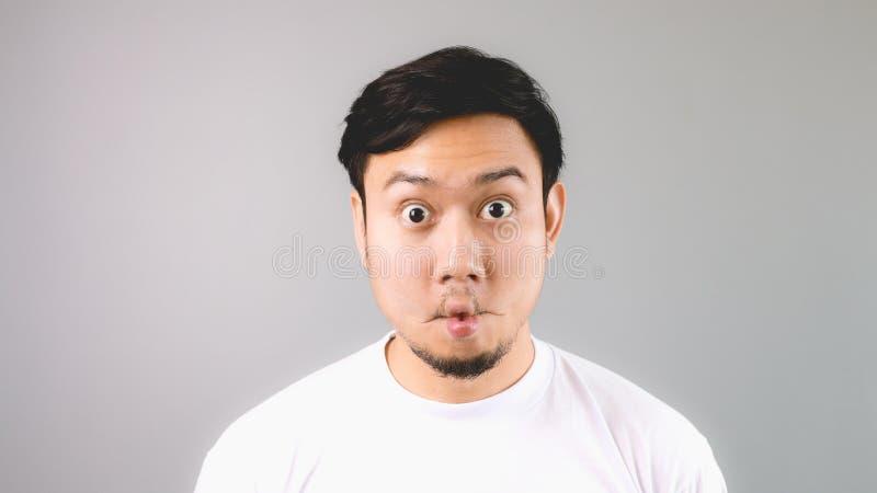 Straight funny face. stock photos