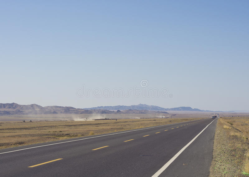 Straight Highway Royalty Free Stock Photos