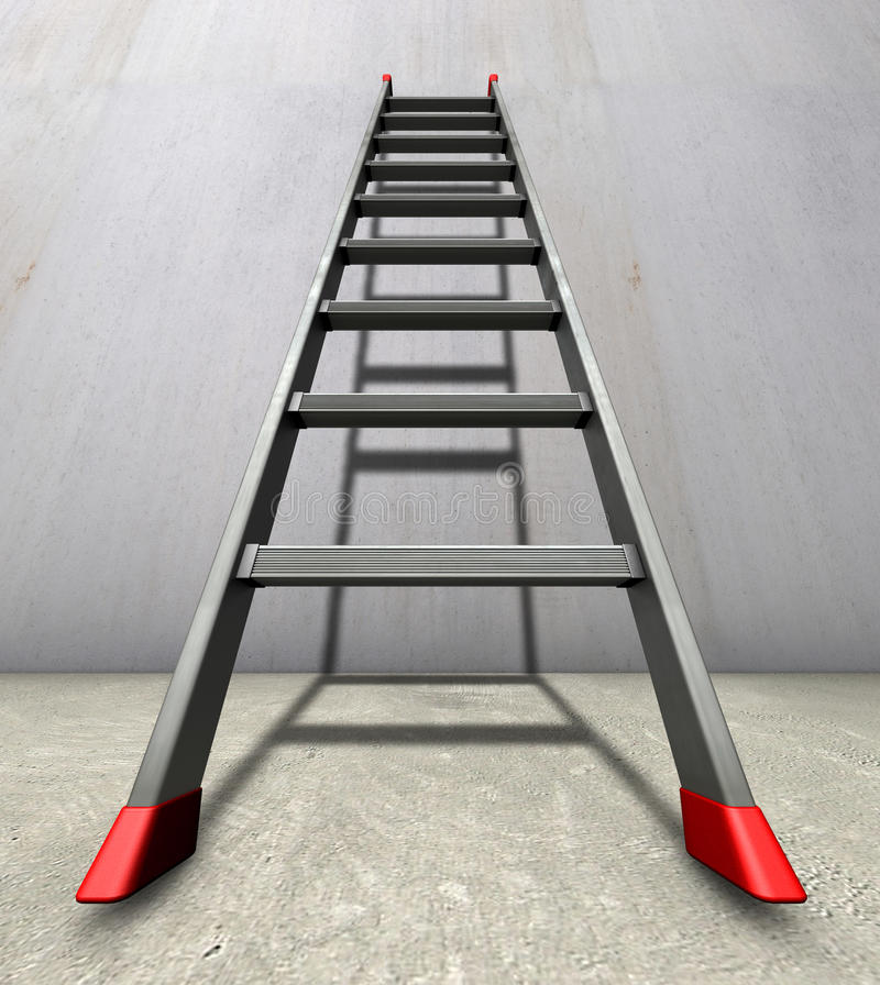 Download Straight ladder stock illustration. Image of antislip - 19014836