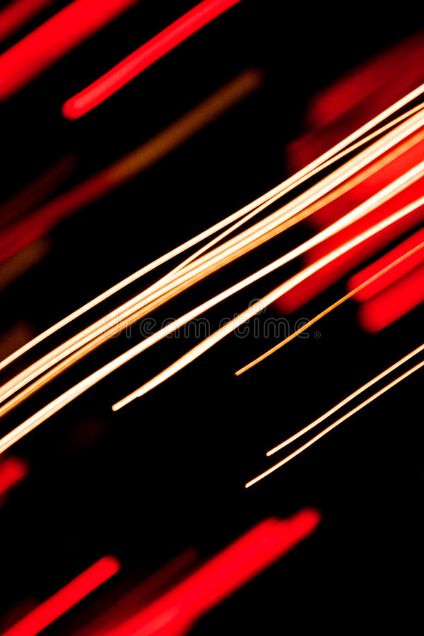 Straight light trails royalty free stock image