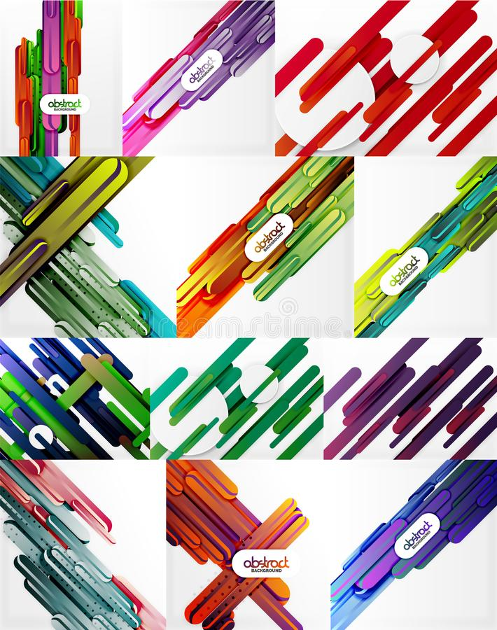 Straight line backgrounds royalty free illustration