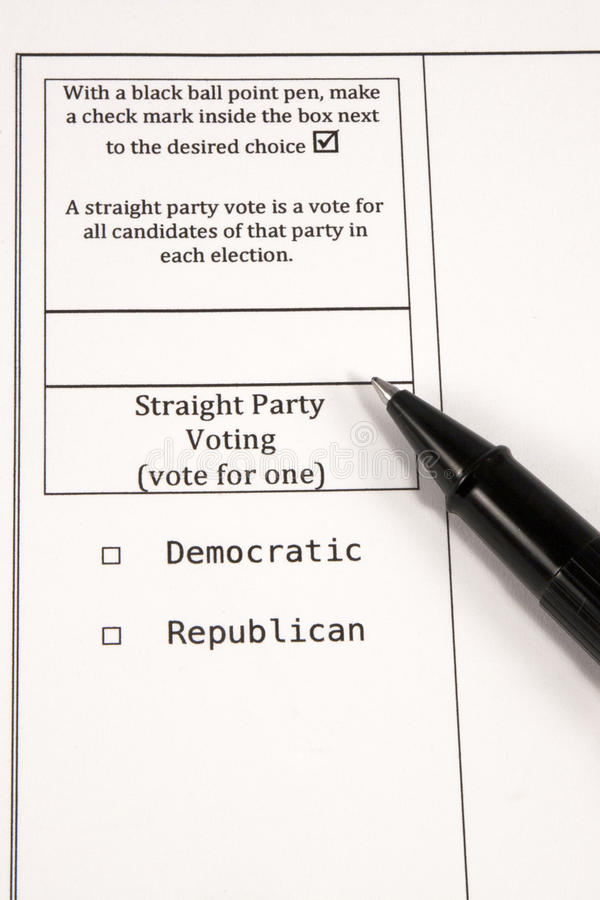 Download Straight Party Voting editorial stock image. Image of delegate - 24232944